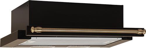 Вытяжка встраиваемая ELIKOR Интегра 50П-400-В2Л, антрацит/рейлинг бронза