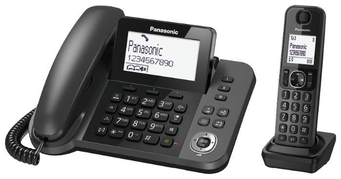 Радиотелефон Panasonic KX-TGF310RUM, серый металлик