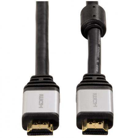 Кабель Hama H-53760, HDMI (m)-HDMI (m), 1.8 м, ферритовые кольца, позолоченные контакты, черный (00053760)