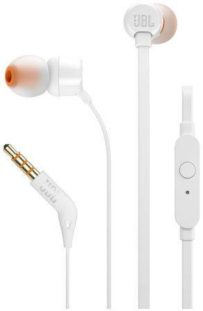 Наушники с микрофоном JBL T110, белый