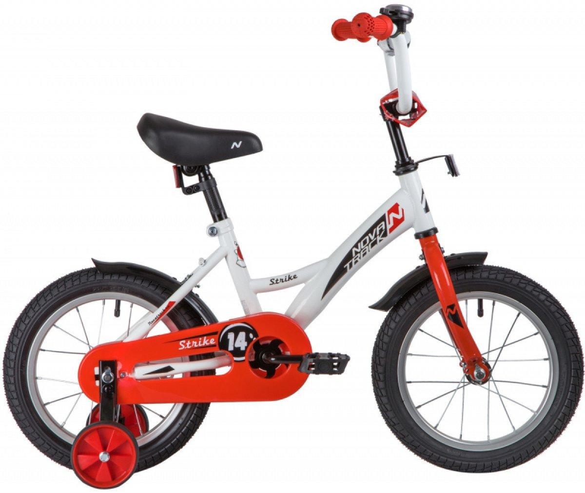 Детский велосипед Novatrack Strike 14 (2020), белый/красный