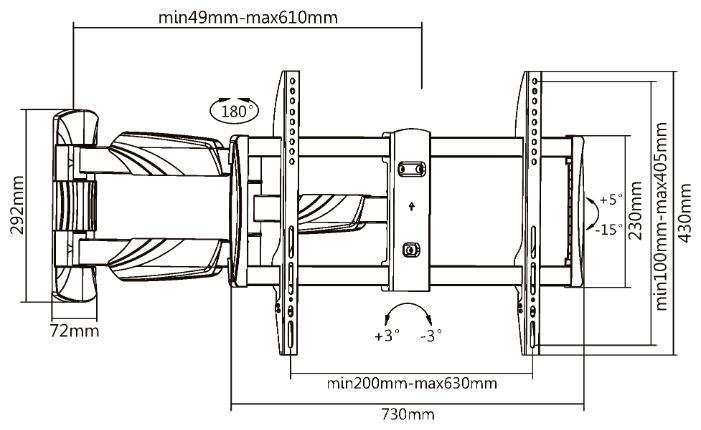 Кронштейн UltraMounts UM909, черный