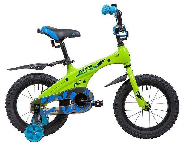 Детский велосипед Novatrack Blast 14 (145MBLAST.GN9), зеленый неон