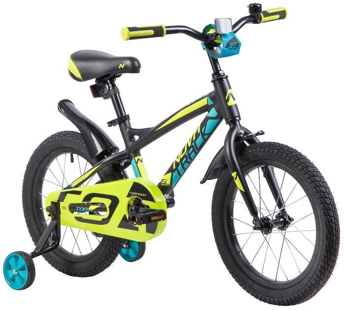 Детский велосипед Novatrack Tornado 16 (165ATORNADO.BK9), черный