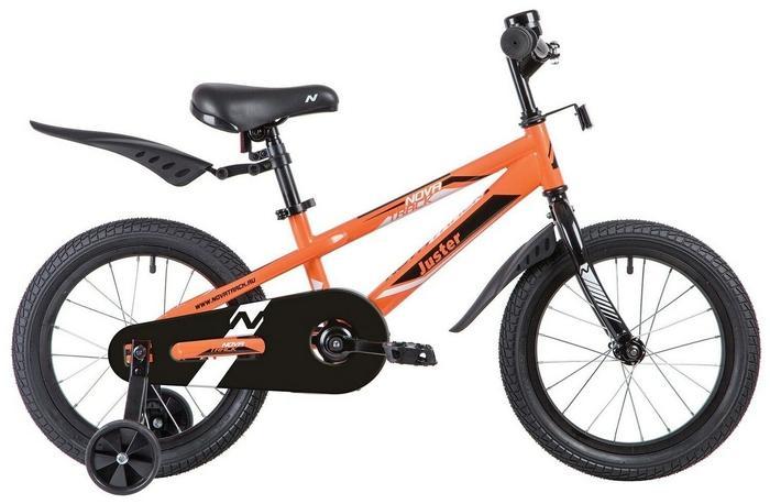 Детский велосипед Novatrack Juster 16 (2020) (165JUSTER.BK20), оранжевый