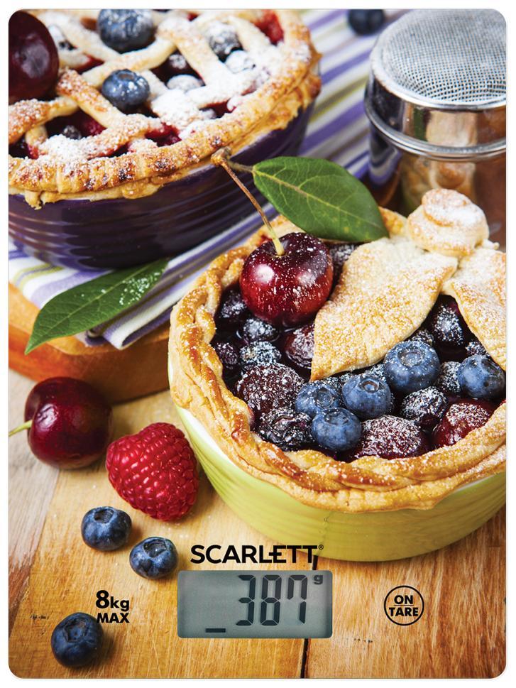 Весы кухонные Scarlett SC-KS57P59 черничный пирог